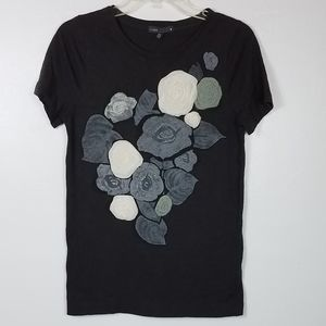 J crew textured flower top
